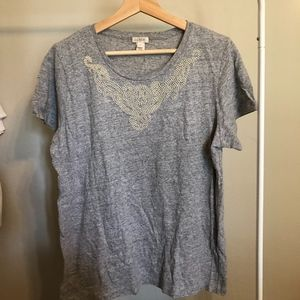 J. Crew T-Shirt with Beading
